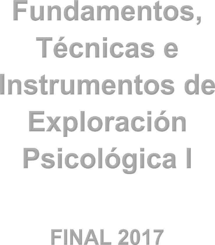 Resumen Final Fundamentos Tecnicas E Instrumentos De