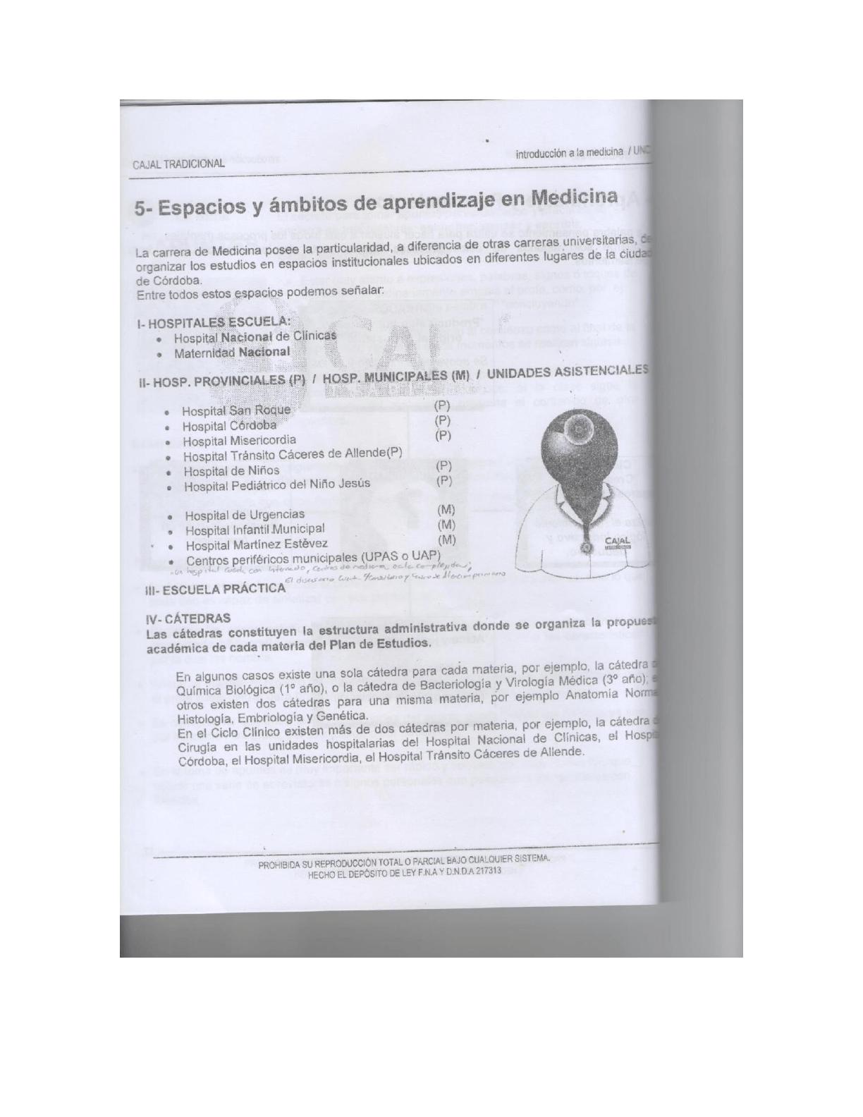 Apunte Introducción a la medicina Cajal | Introducción Al